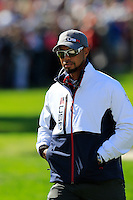 Vice Captain Tiger Woods US Team on the 10th green during Thursday's Practice Day of the 41st RyderCup held at Hazeltine National Golf Club, Chaska, Minnesota, USA. 29th September 2016.<br /> Picture: Eoin Clarke | Golffile<br /> <br /> <br /> All photos usage must carry mandatory copyright credit (&copy; Golffile | Eoin Clarke)