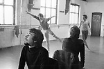 Norman Morrice, director of the Ballet Rambert London 1971. Dance studio rehearsal for That is the Show.