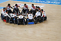 Japan team group (JPN),<br /> SEPTEMBER 15, 2016 - WheelChair Rugby : <br /> Preliminary Round Group B<br /> match Japan 57-52 France<br /> at Carioca Arena 1 during the Rio 2016 Paralympic Games in Rio de Janeiro, Brazil.<br /> (Photo by Shingo Ito/AFLO)