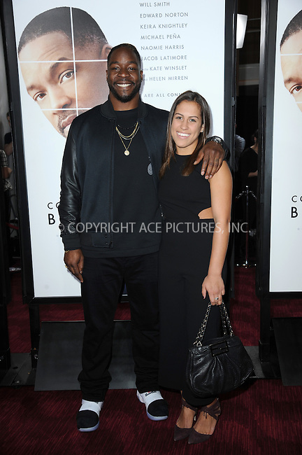 www.acepixs.com<br /> December 12, 2016  New York City<br /> <br /> Lamarr Houston and Taylor Cartwright attending the 'Collateral Beauty' World Premiere at Frederick P. Rose Hall, Jazz at Lincoln Center on December 12, 2016 in New York City.<br /> <br /> <br /> Credit: Kristin Callahan/ACE Pictures<br /> <br /> Tel: 646 769 0430<br /> Email: info@acepixs.com