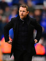 Manager of Derby Gary Powett during the Sky Bet Championship match between Birmingham City and Derby County at St Andrews, Birmingham, England on 13 January 2018. Photo by Bradley Collyer / PRiME Media Images.