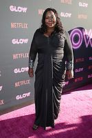 "HOLLYWOOD, CA June 21- Kia Stevens, At Premiere Of Netflix's ""GLOW"" at The ArcLight Cinemas Cinerama Dome, California on June 21, 2017. Credit: Faye Sadou/MediaPunch"