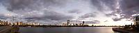 skyline sunset panorama, Boston, MA