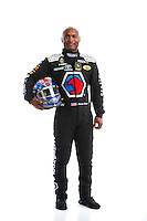 Feb 8, 2017; Pomona, CA, USA; NHRA top fuel driver Antron Brown poses for a portrait during media day at Auto Club Raceway at Pomona. Mandatory Credit: Mark J. Rebilas-USA TODAY Sports