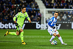 Roque Mesa of CD Leganes and Nemanja Maksimovic of Getafe FC during La Liga match between CD Leganes and Getafe CF at Butarque Stadium in Leganes, Spain. January 17, 2020. (ALTERPHOTOS/A. Perez Meca)