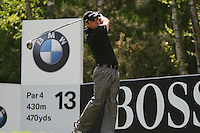 Paul McGinley tees off on the 13th hole during the 3rd round of the 2008 BMW PGA Championship at Wentworth Club, Surrey, England 24th May 2008 (Photo by Eoin Clarke/GOLFFILE)