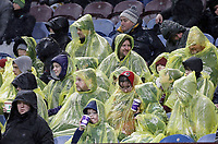 Burnley fans anxiously watch the second half action in soaking wet conditions<br /> <br /> Photographer Rich Linley/CameraSport<br /> <br /> The Premier League - Burnley v Brighton and Hove Albion - Saturday 8th December 2018 - Turf Moor - Burnley<br /> <br /> World Copyright © 2018 CameraSport. All rights reserved. 43 Linden Ave. Countesthorpe. Leicester. England. LE8 5PG - Tel: +44 (0) 116 277 4147 - admin@camerasport.com - www.camerasport.com