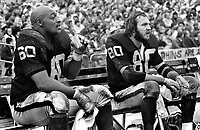 Oakland Raiders Otis Sistrunk and Art Thoms ...(1974 photo/Ron Riesterer)