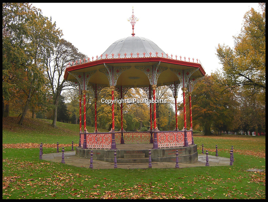 BNPS.co.uk (01202 558833)<br /> Pic: PaulRabbitts/BNPS<br /> <br /> ***Please Use Full Byline***<br /> <br /> The Bandstand at Temple Gardens and Arboretum, Lincoln, still exists today and was built in 1884.<br /> <br /> A landscape gardener is trumpeting the great British creation of the bandstand after touring the country's parks to study the iconic structures for a new book.<br /> <br /> Paul Rabbitts' work is a celebration of the Victorian platforms and a throwback to the halycon days of outdoor music when thousands of people would gather in public parks for a brass band performance.