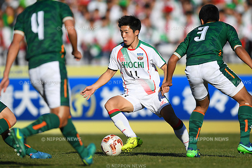 Haruki Arai (), <br /> JANUARY 5, 2017 - Football / Soccer : <br /> 95th All Japan High School Soccer Tournament Quater Final between Shochi Fukaya 1-3 Aomori Yamada<br /> at Kawasaki Todoroki Stadium, Kanagawa, Japan.<br /> (Photo by AFLO SPORT)