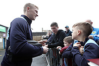 Burnley's Ben Mee arrives at Turf Moor ahead of kick-off, stopping to sign autographs for the waiting fans <br /> <br /> Photographer Rich Linley/CameraSport<br /> <br /> The Premier League - Burnley v Everton - Wednesday 26th December 2018 - Turf Moor - Burnley<br /> <br /> World Copyright &copy; 2018 CameraSport. All rights reserved. 43 Linden Ave. Countesthorpe. Leicester. England. LE8 5PG - Tel: +44 (0) 116 277 4147 - admin@camerasport.com - www.camerasport.com