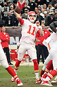 December 06 2015: Quarterback Alex Smith of the Kansas City Chiefs during a 34-20 victory over the Oakland Raiders at O.co Stadium in Oakland, Ca. (Photo by Rob Holt/MMS)