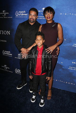 Beverly Hills, CA - DECEMBER 09: David Otunga, Jennifer Hudson, David Otunga Jr, At 2016 March Of Dimes Celebration Of Babies At The Beverly Wilshire Four Seasons Hotel, California on December 09, 2016. Credit: Faye Sadou/MediaPunch