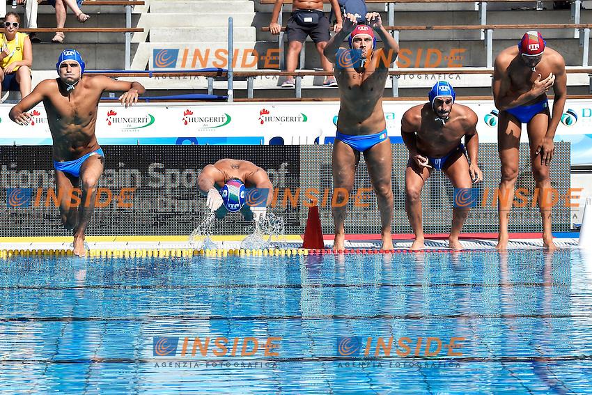 Italia <br /> Romania - Italy / Romania - Italia <br /> LEN European Water Polo Championships 2014<br /> Alfred Hajos -Tamas Szechy Swimming Complex<br /> Margitsziget - Margaret Island<br /> Day02 - July 15 <br /> Photo A.Staccioli/Insidefoto/