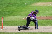 Picture by Harry Whitehead/SWpix.com - 02/05/2014 - County Cricket - Yorkshire Vikings 2nd XI v Lancashire Lightining 2nd XI - Headingley Stadium, Leeds, Yorkshire, England - ? Carver hits out