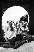 Group listens to recordings of their own brainwaves, Aquarius Electronics, Scorpio Records Studio, Los Angeles California, 1970.