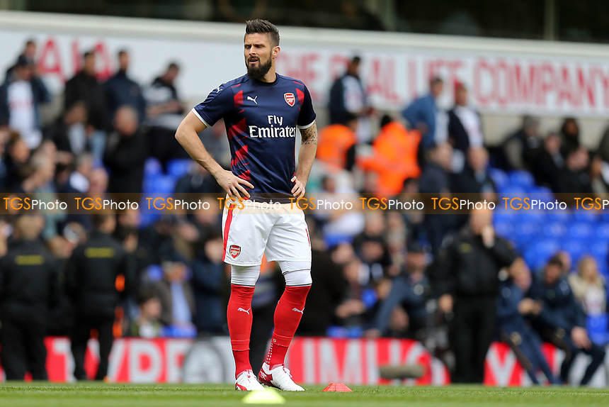Olivier Giroud of Arsenal beforeTottenham Hotspur vs Arsenal, Premier League Football at White Hart Lane on 30th April 2017