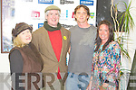 SHORTS: Having a great time watching the Irish Short Films from 2010 Kerry Film Festival as at the Windmill, Blennerville on Friday l-r: Caroline Faulkner, Maurice Conroy and Brendan and Maeve Keegan.