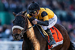DEC 28: Hard Not To Love with Mike Smit wins the La Brea Stakes at Santa Anita Park in Arcadia, California on December 28, 2019. Evers/Eclipse Sportswire/CSM