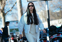 Gilda Ambrosio at Paris Fashion Week (Photo by Hunter Abrams/Guest of a Guest)