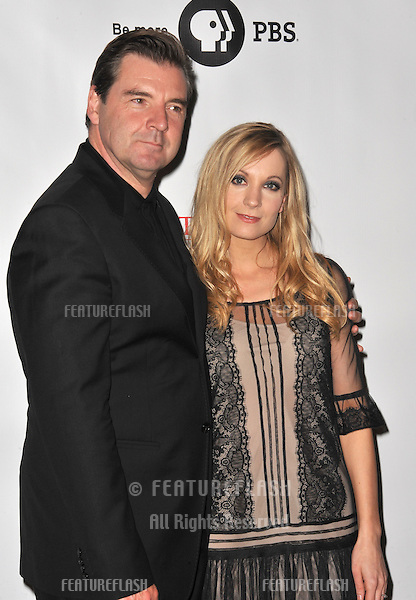 Brendan Coyle & Joanne Froggatt at photocall for the third series of Downton Abbey at the Beverly Hilton Hotel..July 22, 2012  Los Angeles, CA.Picture: Paul Smith / Featureflash