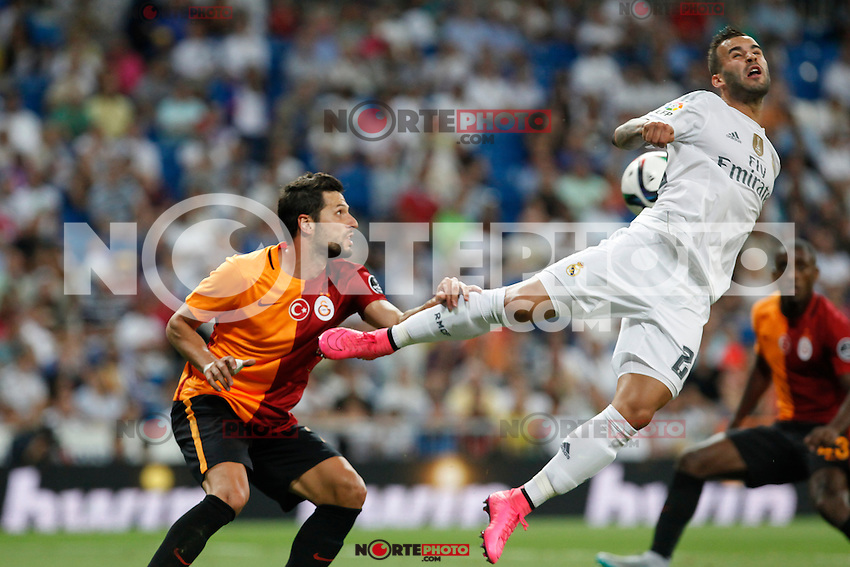 Real Madrid´s Jese (R) during Santiago Bernabeu Trophy match at Santiago Bernabeu stadium in Madrid, Spain. August 18, 2015. (ALTERPHOTOS/Victor Blanco)