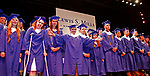 Torrington, CT 062117MK05 Nathan Arnone mugs for a photo during the  the Lewis Mills High School commencement exercises at the Warner Theatre in Torrington on Wednesday night. Michael Kabelka / Republican-American