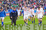 Derrytresk players after losing the All Ireland Junior Final to Naomh Padraig at Croke Park on Sunday.