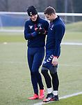 06.03.2020: Rangers training: Brandon Barker and Matt Polster