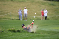 Joel Sjoholm (SWE) in a bunker on the 5th fairway during Round 1 of the D+D Real Czech Masters at the Albatross Golf Resort, Prague, Czech Rep. 31/08/2017<br /> Picture: Golffile | Thos Caffrey<br /> <br /> <br /> All photo usage must carry mandatory copyright credit     (&copy; Golffile | Thos Caffrey)