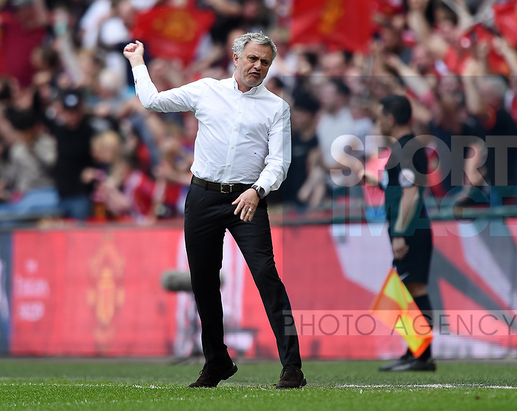 Manchester United Manager Jose Mourinho during the FA cup semi-final match at Wembley Stadium, London. Picture date 21st April, 2018. Picture credit should read: Robin Parker/Sportimage