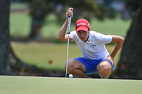 Carlota Ciganda (ESP) looks over her par putt on 1 during round 4 of the 2019 US Women's Open, Charleston Country Club, Charleston, South Carolina,  USA. 6/2/2019.<br /> Picture: Golffile | Ken Murray<br /> <br /> All photo usage must carry mandatory copyright credit (© Golffile | Ken Murray)