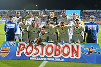 BOGOTÁ -COLOMBIA, 27-04-2014. Aspecto del encuentro de ida entre La Equidad y Millonarios por los cuartos de final de la Liga Postobón I 2014 jugado en el estadio Metropolitano de Techo de la ciudad de Bogotá./ Aspect of first leg match between La Equidad and Millonarios for quarter finals of the Postobon League I 2014 played at Metropolitano de Techo stadium in Bogotá city. Photo: VizzorImage/ Diana Sánchez / Str