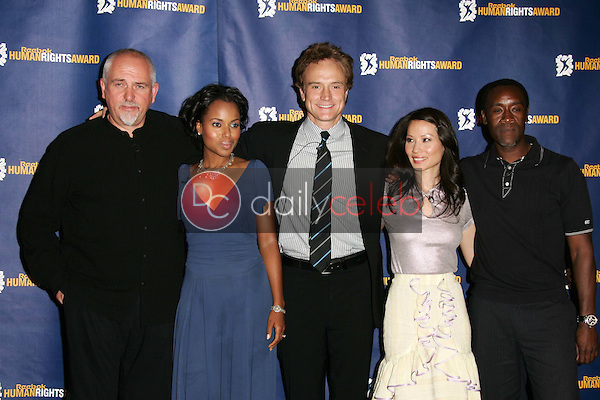 Peter Gabriel, Kerry Washington, Bradley Whitford, Lucy Liu and Don Cheadle<br /> at the 2005 Reebok Human Rights Gala, UCLA, Westwood, CA 05-11-05<br /> David Edwards/DailyCeleb.Com 818-249-4998