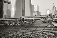 A view of the crowd at a baseball match between the Toronto Blue Jays and the Detroit Tigers at the Rogers Centre, Toronto, Ontario.