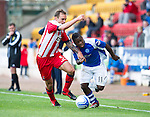 St Johnstone v Kilmarnock....20.10.12      SPL.Nigel Hasselbaink battles with Ryan O'Leary.Picture by Graeme Hart..Copyright Perthshire Picture Agency.Tel: 01738 623350  Mobile: 07990 594431