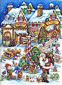 Interlitho-Theresa, CHRISTMAS SANTA, SNOWMAN, WEIHNACHTSMÄNNER, SCHNEEMÄNNER, PAPÁ NOEL, MUÑECOS DE NIEVE, paintings+++++,santa village,KL6113,#X# ,puzzle ,marketplace