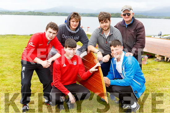 The St Brendans  Rowing club rowers at the Killarney Regatta on Sunday front row l-r: James Lynch, Eoin Cronin , back row: Ciaran Sheehan, Michael Cremin, Shane Griffin, and Teddy O'Brien