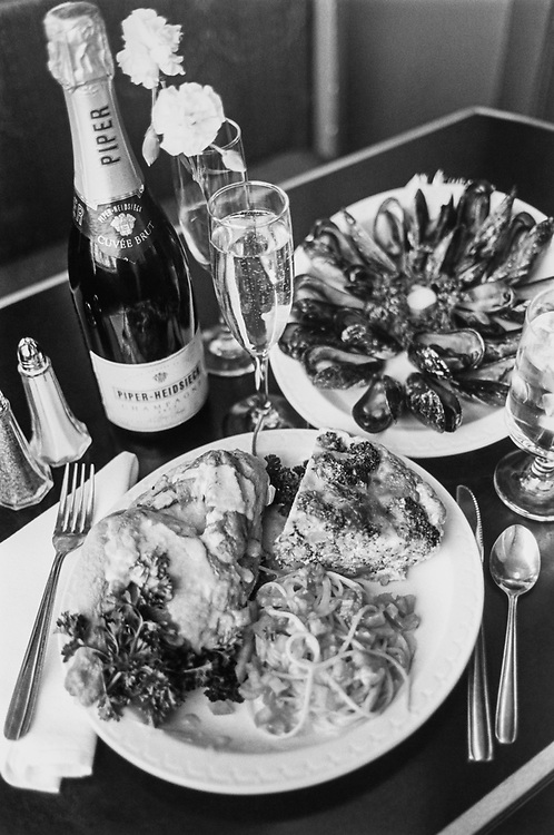 Valentine Special - Hen, Mussels, Quiche, champagne on Feb. 11, 1993. (Photo by Laura Patterson/CQ Roll Call via Getty Images)