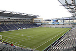 09 June 2011: A view from the southeast corner up the field before the game. Sporting Kansas City played the Chicago Fire to a 0-0 tie in the inaugural game at LIVESTRONG Sporting Park in Kansas City, Kansas in a 2011 regular season Major League Soccer game.