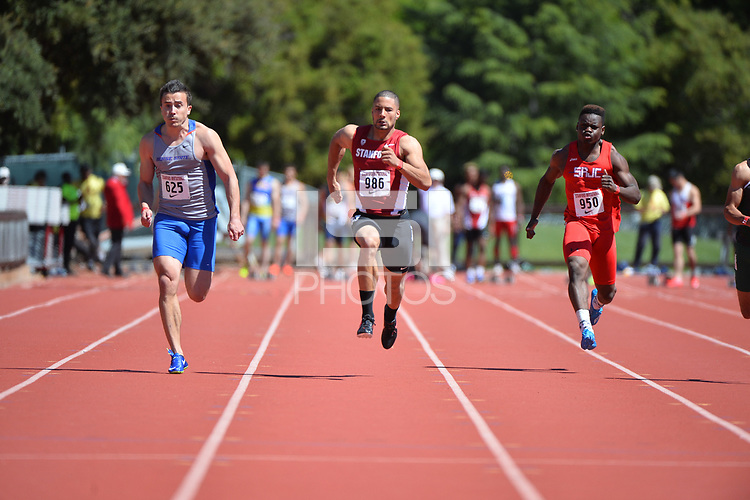Stanford, Ca - Friday March 31, 2017: Isaiah Brandt-Sims  at the Stanford Invitational at Cobb Field.