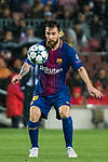 Lionel Andres Messi of FC Barcelona in action during the UEFA Champions League 2017-18 match between FC Barcelona and Olympiacos FC at Camp Nou on 18 October 2017 in Barcelona, Spain. Photo by Vicens Gimenez / Power Sport Images