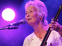 Peggy Seeger performs at the Cambridge Folk Festival 2018, Cherry Hinton Hall, Cambridge, England, UK on 3rd and 4th August 2018.<br /> CAP/ROS<br /> &copy;ROS/Capital Pictures