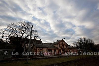 Genève, le 24.11.2010.Gare des eaux-vives où sera prochainement implanter une des futures gare du CEVA..© Jean-Patrick / Le Courrier