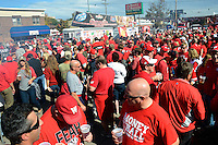 Badgers tailgating during homecoming on Saturday, October 12, 2013 in Madison, Wisconsin