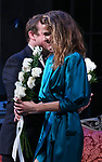"""Keri Russell during the Broadway Opening Night Curtain Call for Landford Wilson's """"Burn This""""  at Hudson Theatre on April 15, 2019 in New York City."""