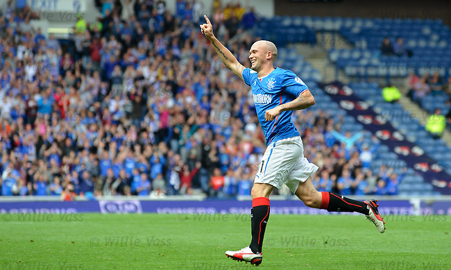 Nicky Law celebrates his goal