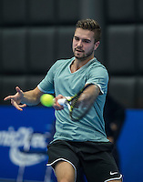 Rotterdam, Netherlands, December 14, 2016, Topsportcentrum, Lotto NK Tennis,  Yannick Zenden (NED) <br /> Photo: Tennisimages/Henk Koster