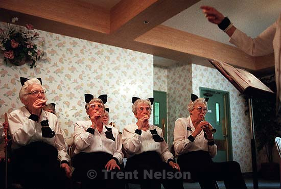 &quot;Snappy Cats&quot;. seniors with kazoos.<br />