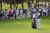 Jon Rahm (ESP) on the 7th during the second round of the Mutuactivos Open de Espana, Club de Campo Villa de Madrid, Madrid, Madrid, Spain. 04/10/2019.<br /> Picture Hugo Alcalde / Golffile.ie<br /> <br /> All photo usage must carry mandatory copyright credit (© Golffile | Hugo Alcalde)
